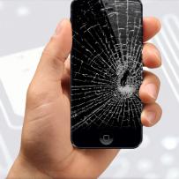 Knust iphonen